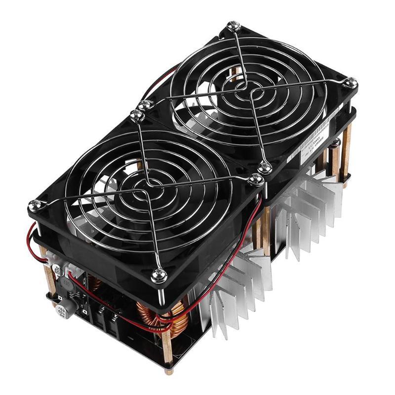 Металл 1800 Вт звс индукционный нагрев печатной платы модуль Flyback драйвер нагреватель с Вентилятор охлаждения интерфейс + медь катушки инст