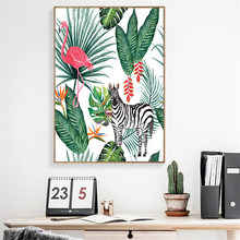 Impressão de parede rosa flamingo abstractos quadros em tela cuadros abstractos moderno arte imagens para sala estar decoração cuadros