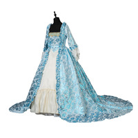 Renaissance Victorian Christmas Party Brocade Princess Dress Masquerade Gown Theater Costumes
