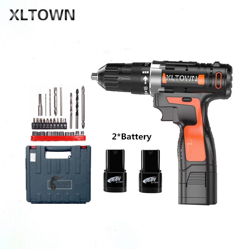 где купить Xltown 16.8v Cordless Mini Electric Drill with 2 battery Multi-energy lithium battery electric screwdriver power too Gift drill дешево