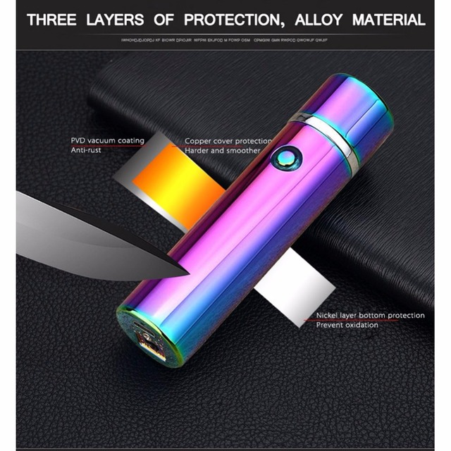 Double Pulsed Arc Electric Lighter USB Windproof Smoking Rechargeable Lighter Plasma Electronic Pipe Cigarette Cigar Lighters