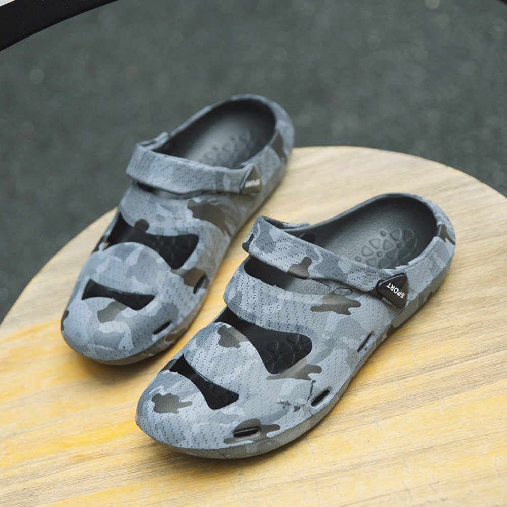376461052 ... Unisex Breathable Casual Outdoor Beach Slippers Comfort Anti-Slip  Shower Sandals 2018 Mens Summer Beach ...