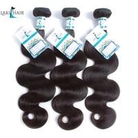 LakihairHair Brazilian Body Wave Human Hair Bundles 3 Pieces Of 10 30 Inch Natural Black Non