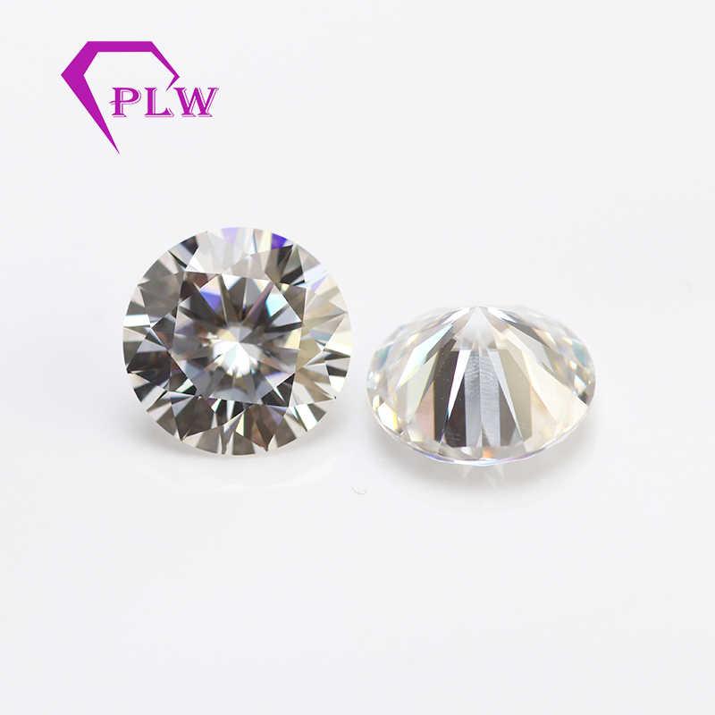 ブリリアントカットオフホワイト色 GH 11 ミリメートル 5ct VVS に似ダイヤモンド宝石モアッサナイト男性のためのジュエリーリングイヤリングブレスレット