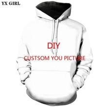 YX GIRL Custom Full Print 3d Hoodies Vyriški / moteriški drabužiai, vyriškos marškinėliai Hoodies Customize Plus Size XS-5XL