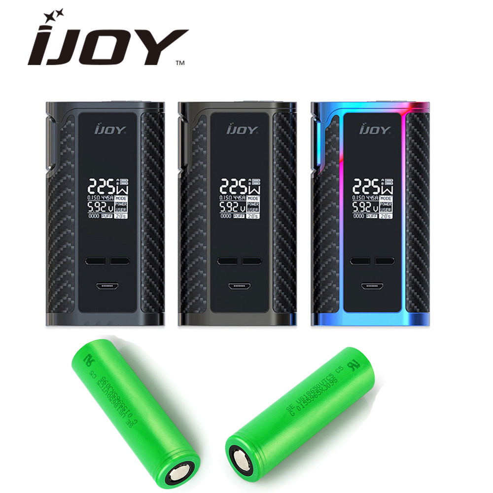 Original 225W IJOY Captain PD1865 TC Box MOD with 2x2600mAh 18650 Battery for RDTA 5S Wondervape