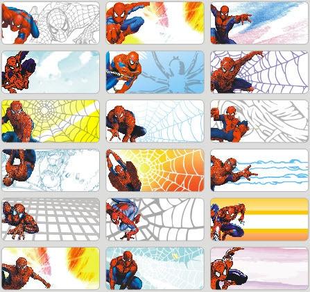 72pcs spiderman prints cartoon name sticker name labels name tags