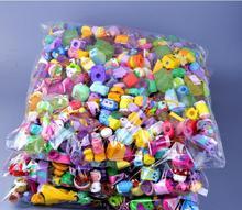 100 ชิ้น/ล็อตหลายรูปแบบ Miniature ช้อปปิ้งผลไม้ตุ๊กตา Action Figures สำหรับครอบครัวเด็กคริสต์มาสของขวัญของเล่นผสม Seasons