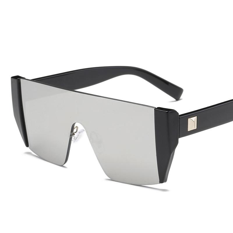 HBK Square Luxury Sun Glasses Brand Designer Ladies Oversized Shades Sunglasses Women Gold Frame Mirror Sun Glasses For Female 1