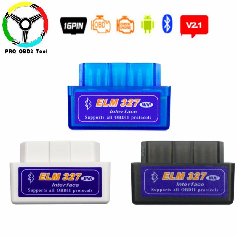 2018 New Arrival ELM327 V2.1 Bluetooth OBD2 Car Diagnostic Scanner Tool ELM 327 Bluetooth OBD OBDII Support Multi-Brand Cars