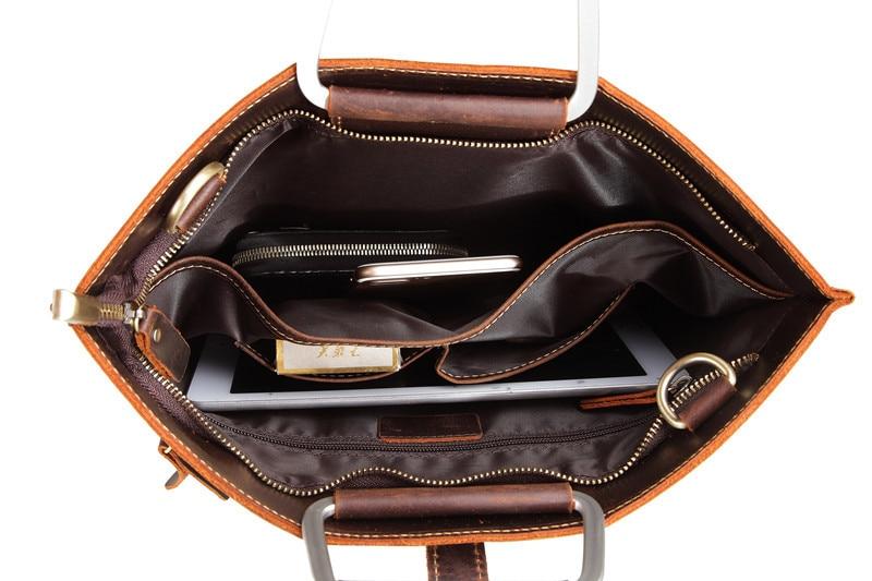 HTB1tHLQmA7mBKNjSZFyq6zydFXaW Genuine Leather Men's Handbags Crazy Horse Leather Man Retro Tote Bag Shoulder Messenger Bag Business Men Briefcase Laptop Bag