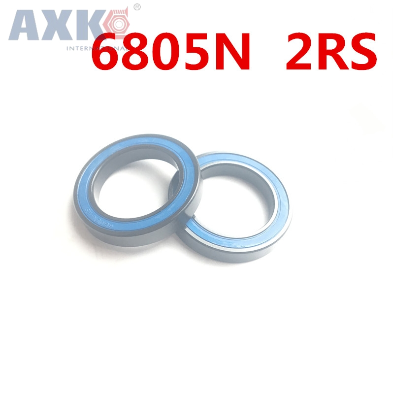 Axk 2pcs 6805n 6805n-2rs Si3n4 Hybrid Ceramic Bearing <font><b>25x37x6</b></font> 6805n 25376 Bike Wheel Bottom Bracket Bearing Bb51 Ht2 image