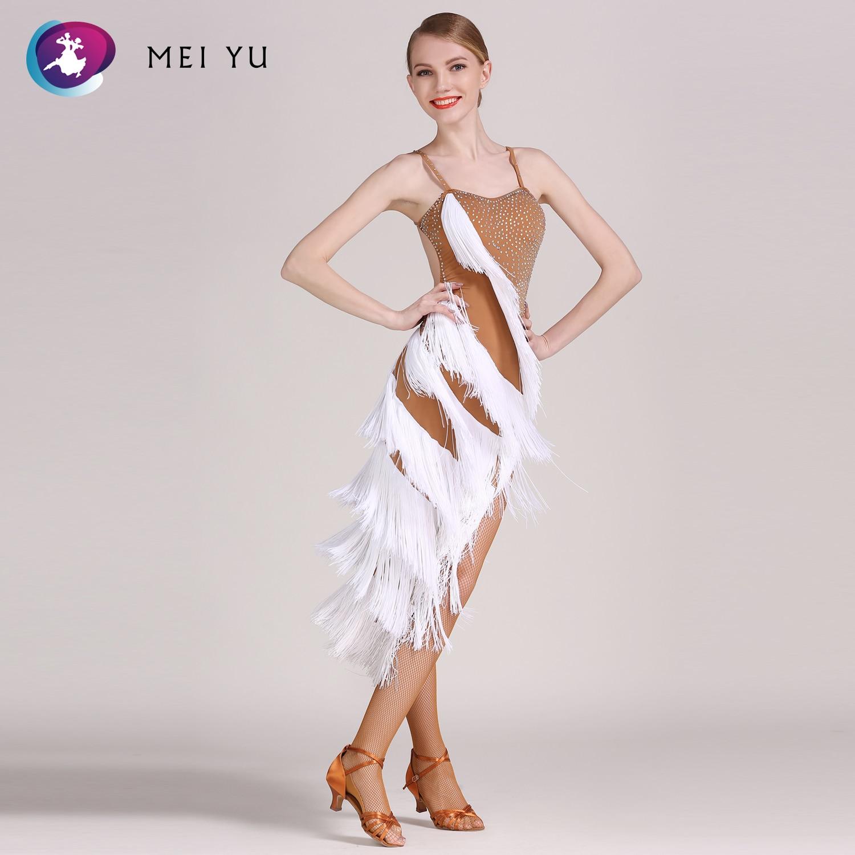 Mei Yu Gb016 Latin Dans Kostuum Rumba Samba Cha Cha Dansen Jurk Vrouwen Lady Dancewear Ballroom Kostuum Avond Party Dress
