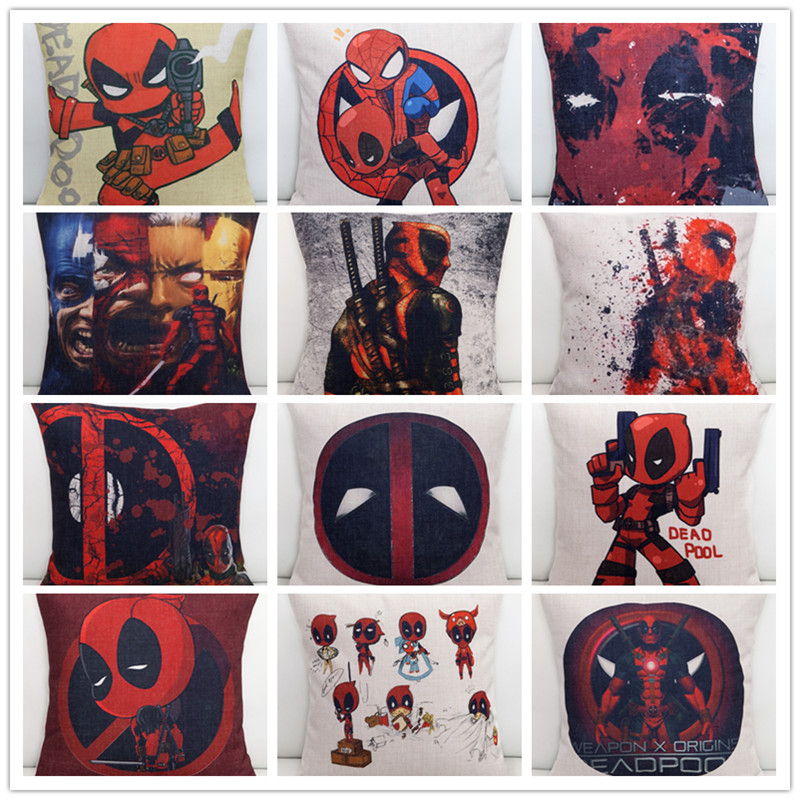 The Movie Deadpool Wade Winston Wilson Sofa Throw Pillowcase Home Decor Pillow Case Cover Cushion Cover New Without Fillings