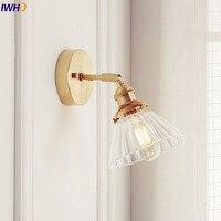 IWHD Nordic Glas Wandleuchte Neben Schlafzimmer Badezimmerspiegel Licht Japan Stil LED Wandleuchten Vintage Edison Leuchte-in LED-Innenwandleuchten aus Licht & Beleuchtung bei