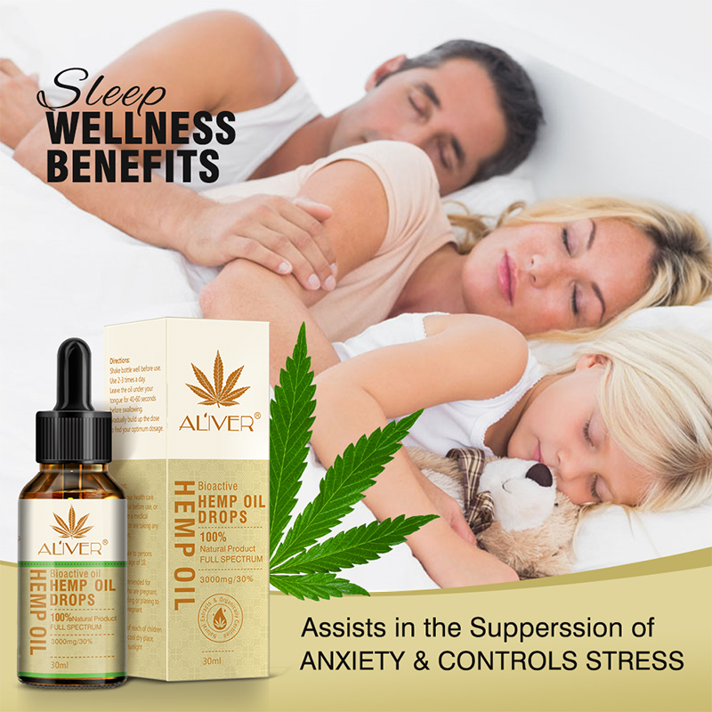 30ml Essential Oils Organic Hemp Seed Oil 3000mg Herbal Drops Body Relieve Stress Oil Skin Care Help Sleep TSLM1(China)