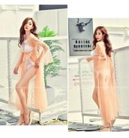 Rhyme Lady New Style Crochet Beach Dress Tunic Pareos For Women Loose Kaftan Summer Beach Cover