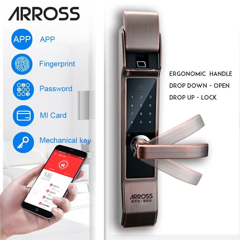 ARROSS sécurité électronique serrure de porte intelligente écran tactile serrure numérique Code clavier serrure à pêne dormant pour maison hôtel appartement
