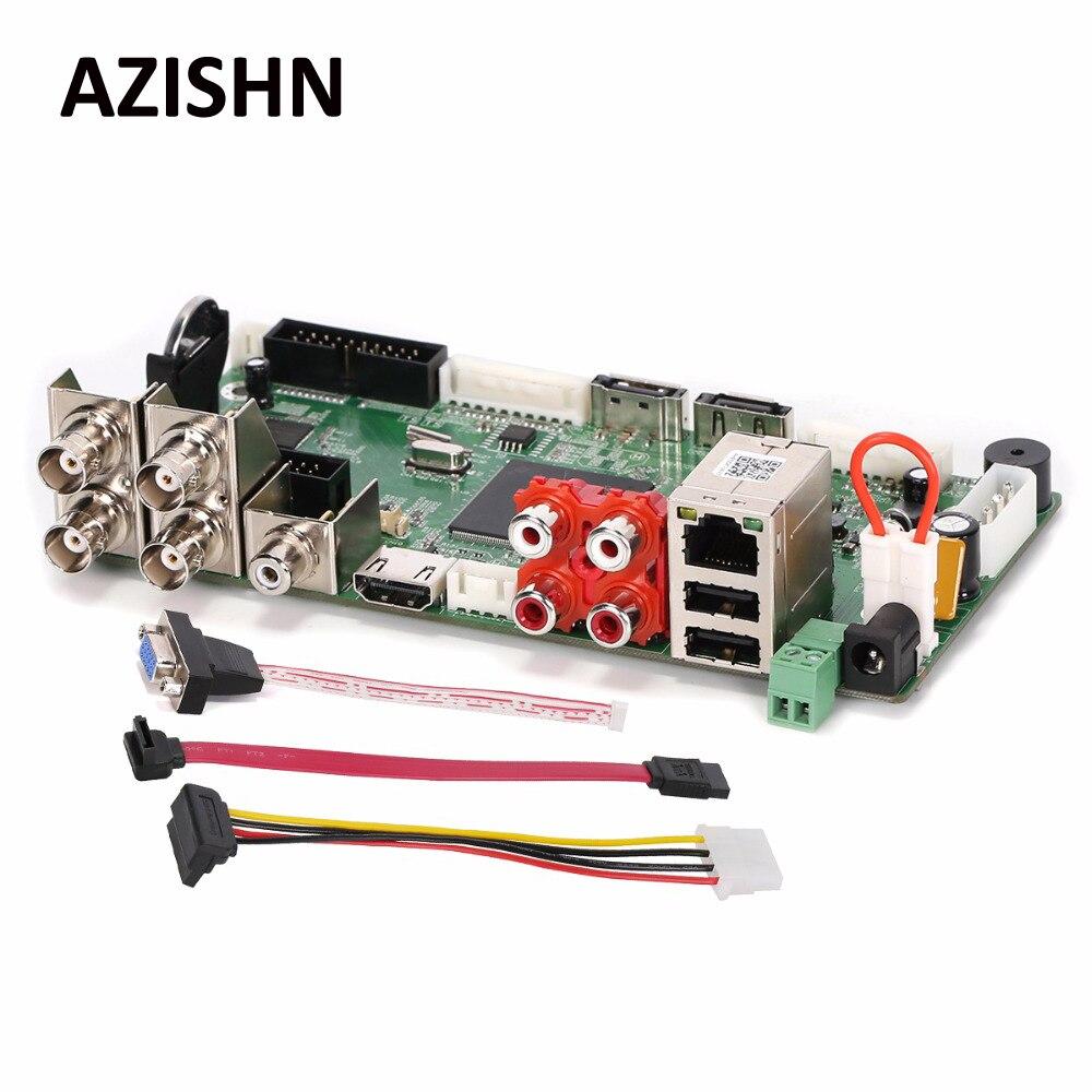 AZISHN FULL HD  CCTV H.264 4CH AHD DVR 1080N Hybrid AHD/CVI/TVI/CVBS 960H D1 CIF 8CH1080P NVR,Security HDMI 5 in 1 Main Board 5 in 1 security cctv dvr 4ch ahd 1080n h 264 hybrid video recorder for ahd tvi cvi analog ip camera onvif hdmi 1080p output