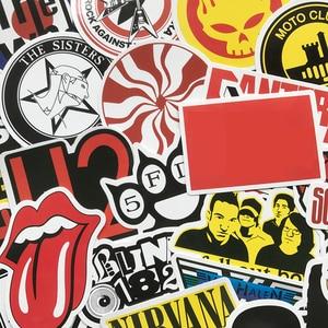 50 шт., наклейки в ретро-рок-стиле, музыка, граффити, JDM, водонепроницаемая наклейка для скейтборда, багажа, ноутбука, автомобиля, мотоцикла