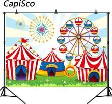 d3b762d78e Capisco Tenda de Circo Festa de Aniversário Carnaval Decoração Pano de  Fundo Cenários de Fotografia do Parque de Diversões do Fu.