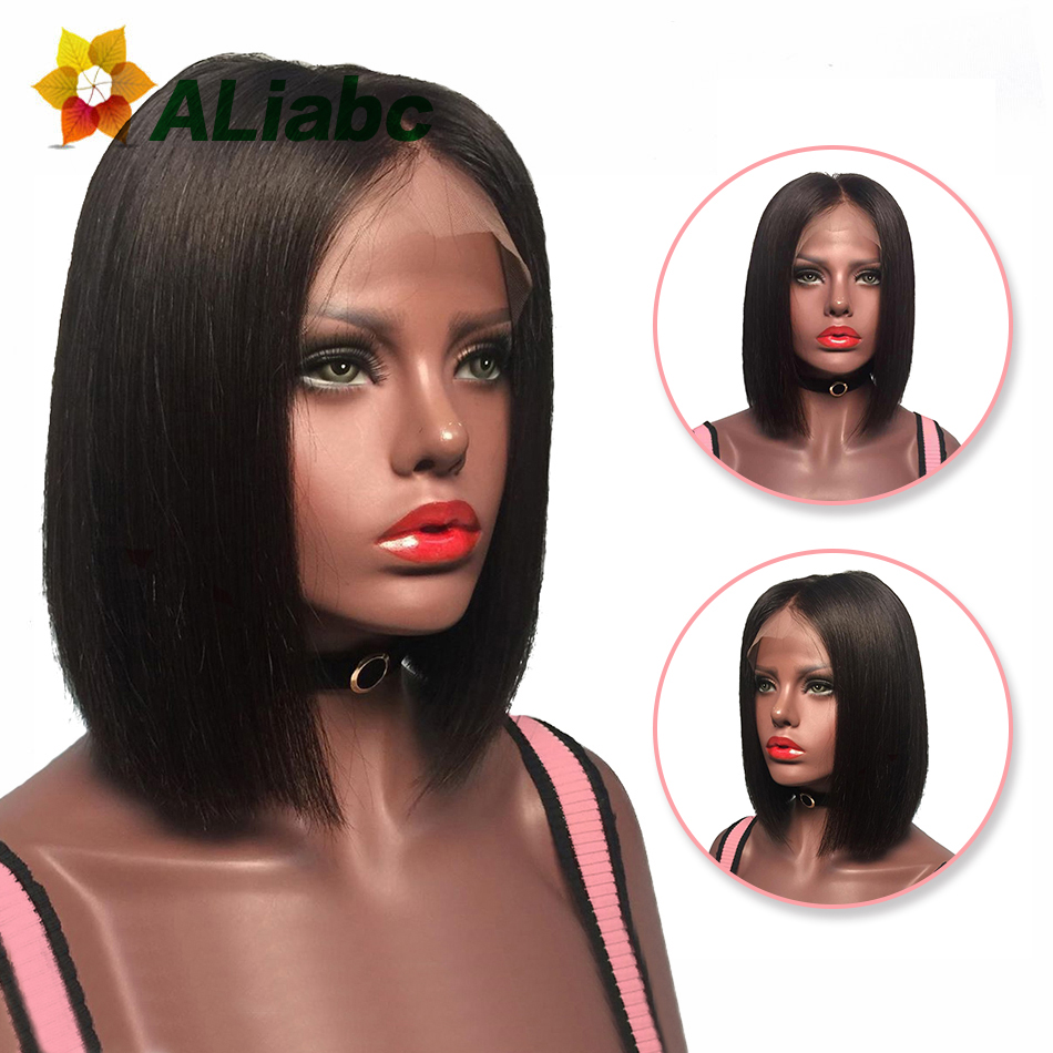 Aliabc 13 4 Hair Bob Wigs Malaysian Lace Front Human Hair Wigs For Black Women Natural