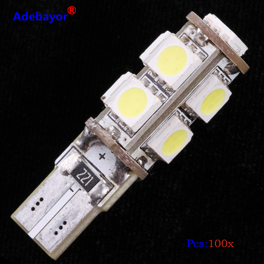 W5W T10 501 Wedge 4 TOP 5050 SMD LED CAN BUS Interior Sidelight car bulbs Blue A