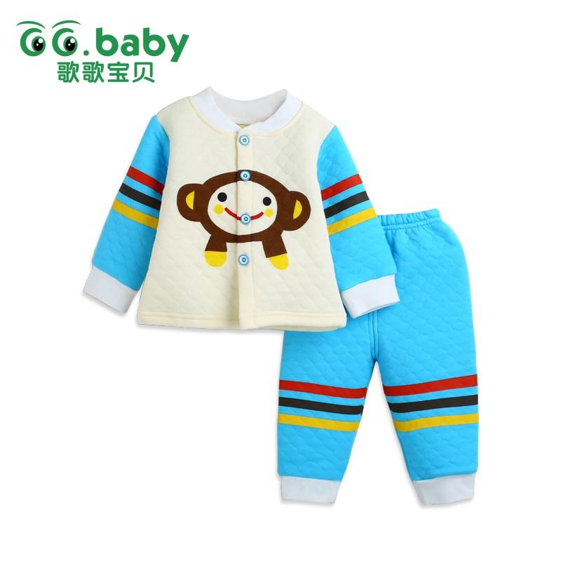 2016 New 2 pieces Cotton Autumn Winter Baby Clothing Set Bear Bebes Suit Warm Tops Pants Infant Newborn Girl Boy Clothes Sets