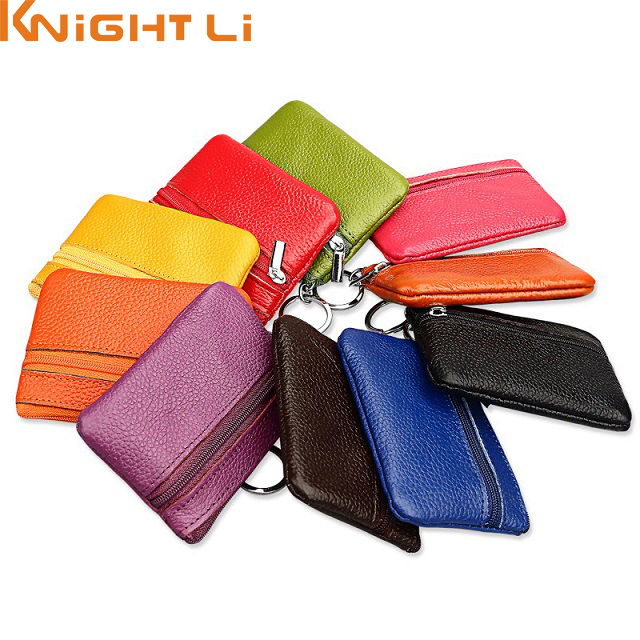 Women Genuine Leather Coin Purses Cow Leather Small Purse for Coin Children Wallet Key Ring Change Purse Monederos Mujer Monedas coin purses women purse for coins children s wallet kids wallets cats fashion small bag gato monederos mujer monedas carteira