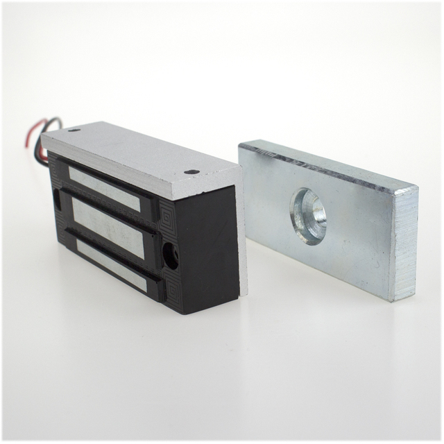 Access Control 60KG/132lbs Electronic Magnetic Lock DC12V Fail Safe NC model Door lock for Electric Security System single door