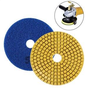 Image 1 - Diamond Polishing Pads Kit 4 inch 100mm Wet Dry Granite Stone Concrete Marble Polishing Grinding Discs Set