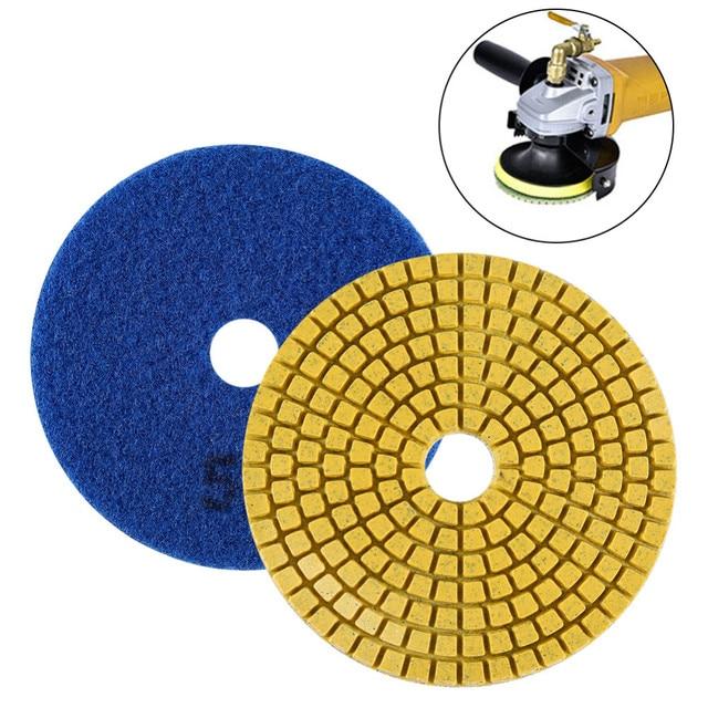 Diamond Polishing Pads Kit 4 inch 100mm Wet Dry Granite Stone Concrete Marble Polishing Grinding Discs Set