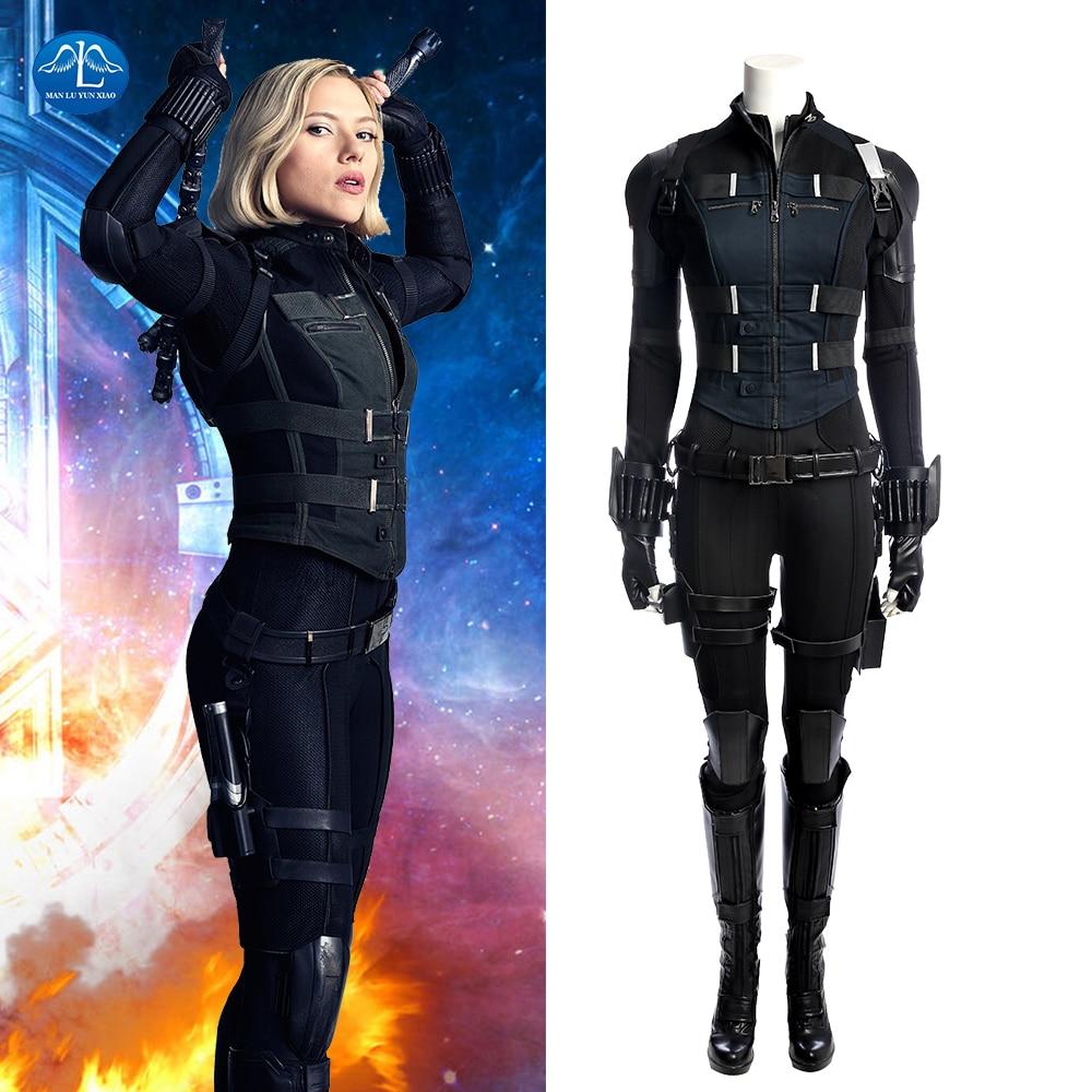 Free Shipping Avengers Infinity War Black Widow Cosplay ...