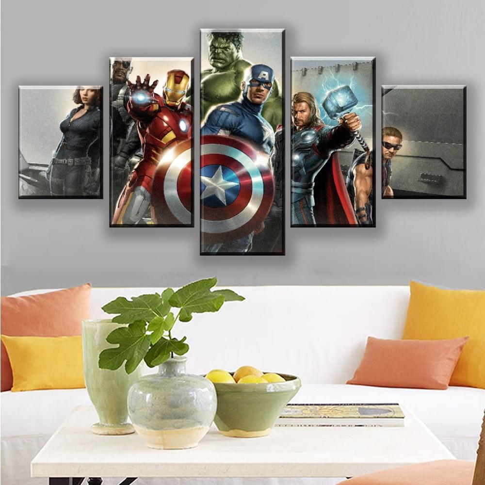 50.5*35cm Marvel Hero Edition Kraft Vintage Poster Home Wall Art Paper Decor US
