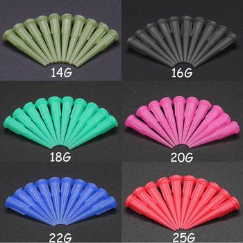 Chuilian 14G-25G TT różne plastikowe stożkowe Smoothflow stożkowe igły porady dozowania zestaw tipsów do dozowania kleju dysza tanie i dobre opinie 14G-25G TT assorted Plastic Glue dispensing nozzle