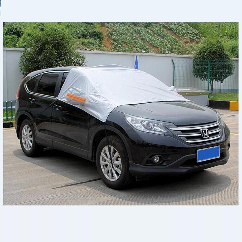 цена на CHIZIYO Generic Sun Shade PEVA Car Snow Shield Cover Auto Front Windscreen Rain Frost Car Cover Dust Hook Up Cover Shield