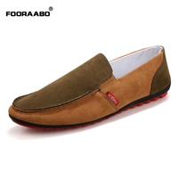 Fooraabo Hot Sale Spring Men Casual Shoes 2017 Summer Canvas Shoes Men High Quality Breathable Mens Flats Low Footwear Male Shoe