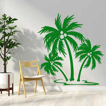Modern coconut tree Wall Mural Removable Decal Bedroom Nursery Decoration Sticker