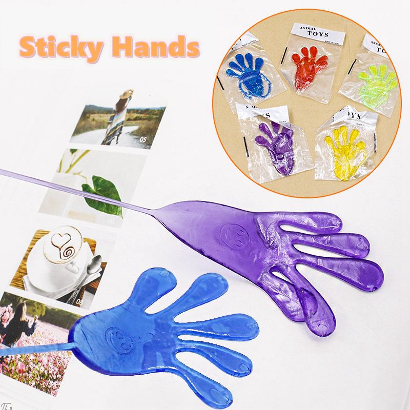 5pcs/Bag Squishy Sticky Hands Antistress Slap Palm Fun Joke Novelty Toy For Children Squishi Anti-Stress Birthday Gift Squishies