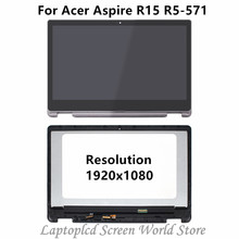 "FTDLCD 15.6"" LCD TouchScreen Digitizer Assembly with Bezel For Acer Aspire R15 R5-571T-59DC 571T-78EN 571TG-78G8 571TG-71N9"
