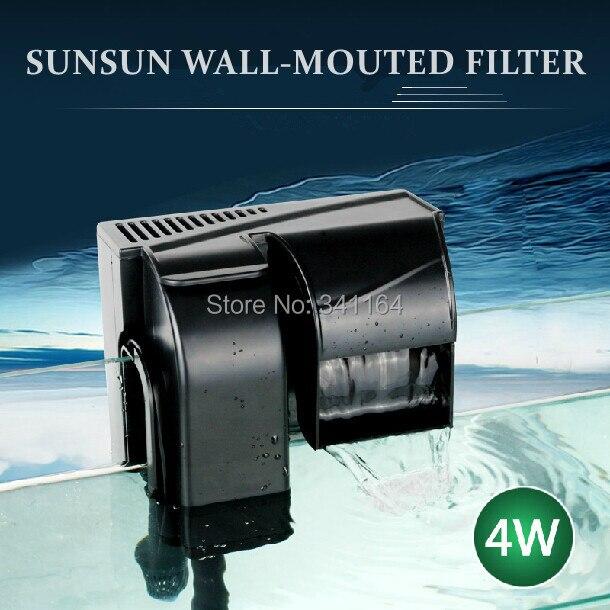 Sunsun HBL-502 4w fish tank aquarium wall-mounted filter oxygenatio water cycling pump save space silent waterfall - Green Grass of Home store