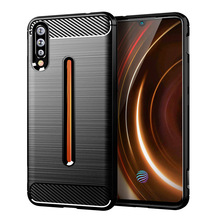 For Vivo Iqoo Case Silicone Carbon Fiber Mobile Anti Knock Fingerprint Cases