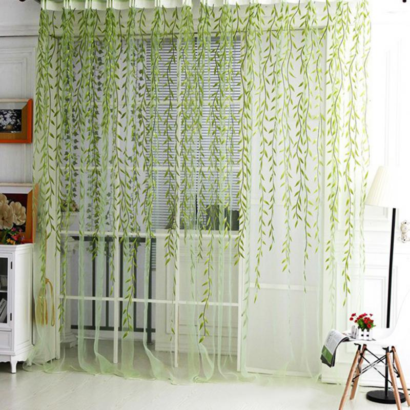 1m2m Home Textile Tree Willow Curtains Blinds Voile Tulle Room Curtain Sheer Panel Drapes For Bedroom Living Kitchen Corti In From