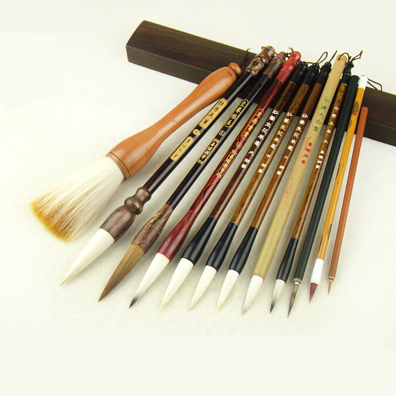 Professional 12pcs 1 Set Landscape Mountains Painting Calligraphy Pen Brush Large Middle Small Regular Script Writing Brushes the factory direct large painting signature series of neutral pen 1mm 12pcs set