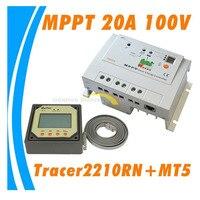 Real Tracer 2210RN MPPT 20A Controlador de Carga Solar com medidor remoto MT5  20 ampères EP MPPT reguladores de carga Solar DIY|tracer 2210rn|tracer solar controllertracer mppt 20a -