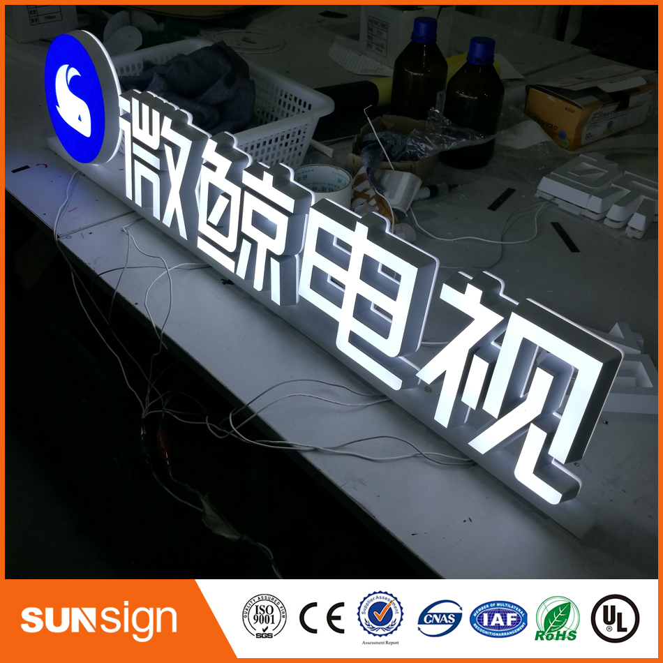 Acrylic Double Lighted Mini Led Letters