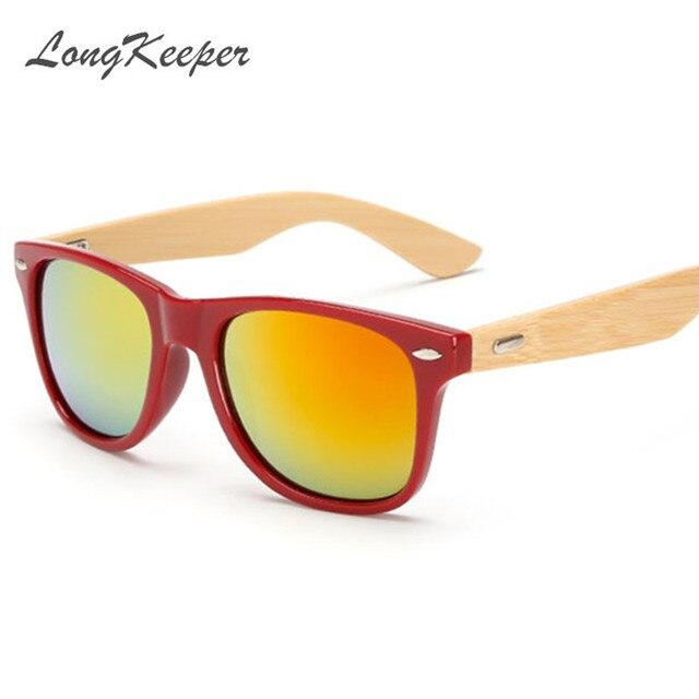 c2028ce11ec LongKeeper Bamboo Sunglasses Men Wooden Sunglasses Women Brand Designer  Mirror Original Wood Sun Glasses Gafas de sol masculino