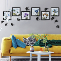 Multi Frame Wood Picture Frame Sets For Wedding Picture Decoration High Quality Home Wall Decor Picture