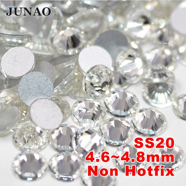 e8e2b1a811 ss20 Clear Crystal Rhinestones Glass Flatback Crystals Non Hotfix Strass Round  Crystal Stones For Clothes Dress Crafts 1440pc