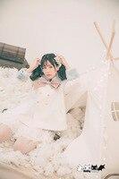 Prinzessin sweet lolita coatJapanese harajuku navy super college zweireiher pelz führte weichen schwester mantel Dolley-0006
